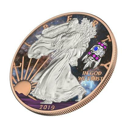 KING/'S SKULL 1 Oz Silver Coin 500 pcs only USA 2019 $1 Liberty Silver Eagle