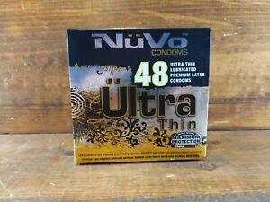 NuVo 18 Ultra Thin Lubricated Premium Latex Condoms NEX