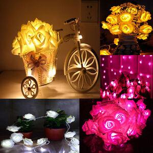 Rose-Flower-20LED-Fairy-Wedding-Garden-Party-Christmas-Decor-Xmas-String-Lights