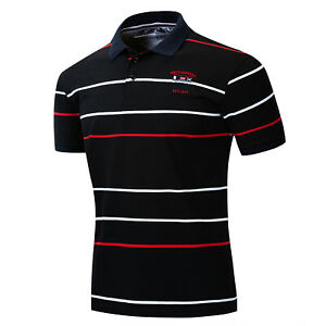 Fashion-Men-Flag-Polo-Shirt-Short-Sleeve-Embroidered-Striped-Cotton-T-Shirt-Top