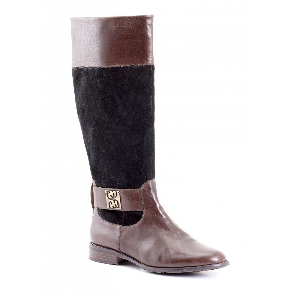 Gerry Weber Demy 02 marron/noir marron/noir marron/noir en cuir Riding Boot f68a54