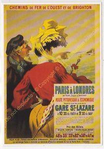CP Postcard Chemins Iron West & Brighton Paris London Edit Clouet 10397