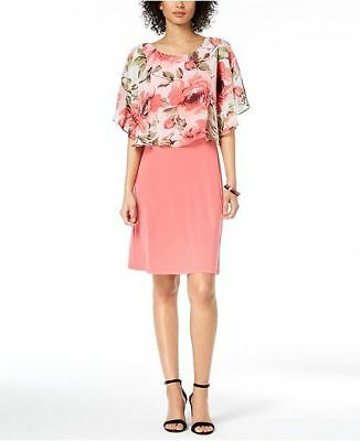Connected Women/'s Chiffon Capelet Sheath Dress