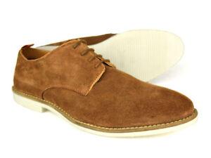 45 London Uk Shoes p Silver 7 Dalston 12 Mens Tan P Street £ Suede gratis Rrp 01UwUq75