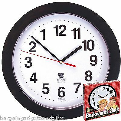 ANTI CLOCKWISE BACKWARDS CLOCK FUNNY NOVELTY UNUSUAL MENS DADS COOL PRESENT