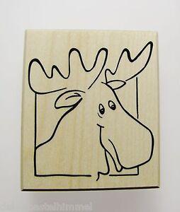 Weihnachtskarten Foto Gestalten.Stempel Elch Zum Weihnachtskarten Gestalten Embossing Stempeln