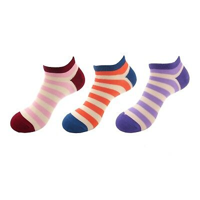 6 Pair Assort Women/'s Rayon From Bamboo Fiber Colorful Stripes Ankle Home Socks