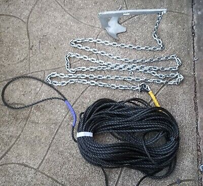 6kg Grapnel style boat anchor Kit  5m Of 8mm chain 150ft 10mm rope