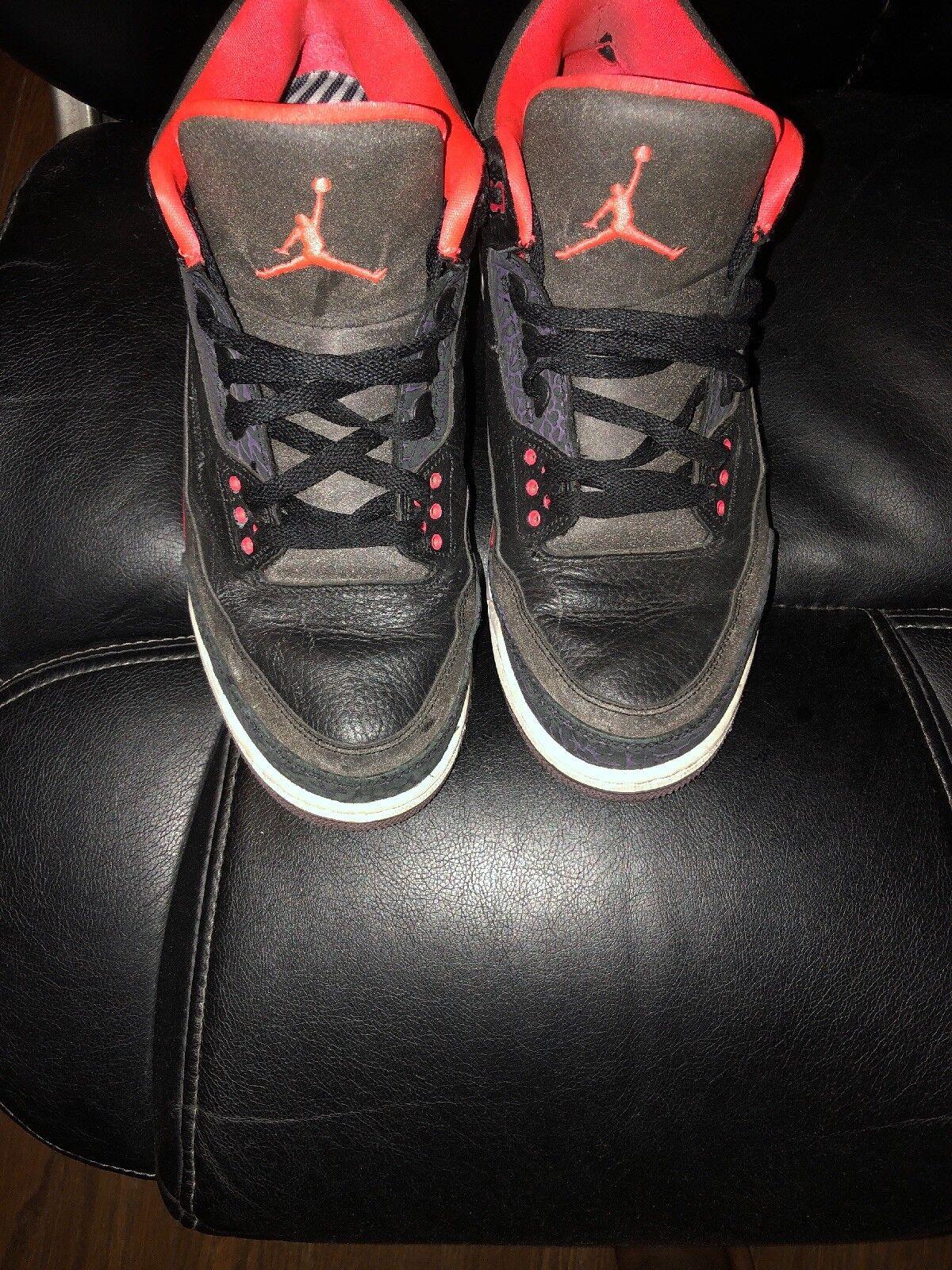 Nike Air Jordan 3  Bright Crimson  Retro Men's Sneakers (sz 12)