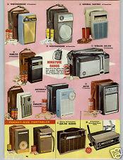 1962 PAPER AD 4 PG Miniature Transistor Radio Pocket GE Philco Motorola Desk ++