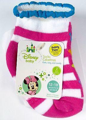Helpful Nuovo 6 Paia Disney Viola Di Ragazze Rosa Minnie Antiscivolo Taglia Calze 12-18m Easy To Repair Clothing, Shoes & Accessories Socks & Tights