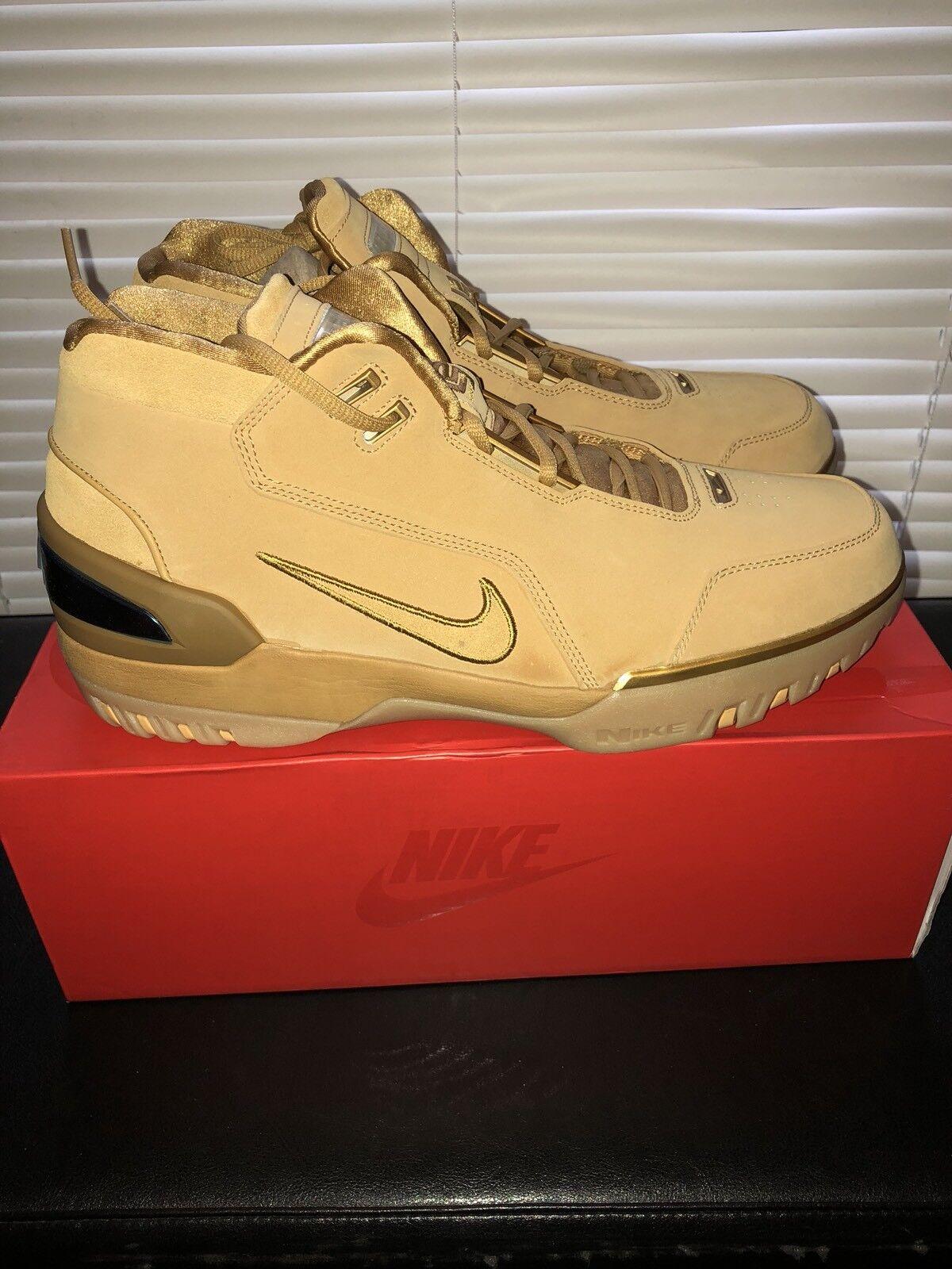 Nike lebron aria zoom generazione asg qs grano / oro aq0110-700 uomo numero 13