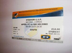 used ticket APOEL Nicosia - HJK HELSINKI 06.08.2014 - Kraków, Polska - used ticket APOEL Nicosia - HJK HELSINKI 06.08.2014 - Kraków, Polska