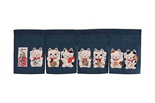 Made in Japan Shichifuku Manekineko Noren Curtain Tapestry <Japan import>
