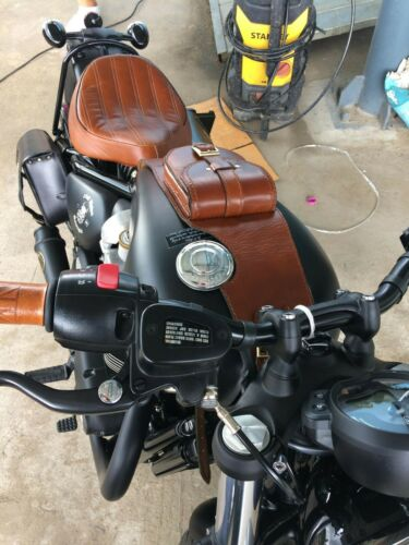 Triumph Bag Strap Real Leather Cowhide High Quality Tank Panel with Pouch