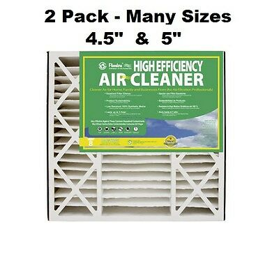 """2 PACK MANY SIZES  4.5/"""" /& 5/"""" High Efficiency Air Cleaner Furnace Filter MERV 8"""
