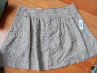 Old Navy Linen Blend Skirt Tan Multi Size 6