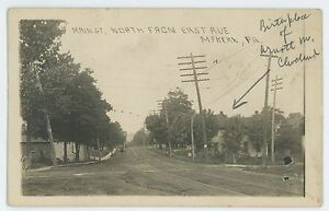 RPPC-Main-Street-North-from-East-Ave-MCKEAN-PA-Erie-County-Real-Photo-Postcard
