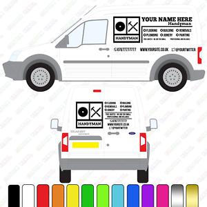 Handyman Van Sign Handy Man Van Signage Small//Medium Van Custom Vinyl Decal