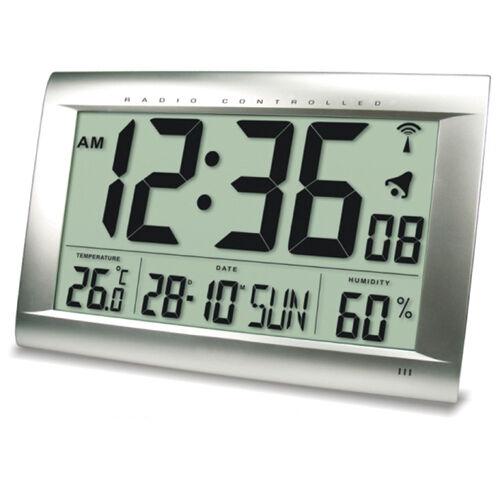 Funkuhr Uhr XXL Jumbo 40 cm x 27 cm LCD sehr großes Display mit Innentemperatur