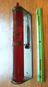 Vintage-Fyrgard-Glass-Throw-Fire-Extinguisher-Red-wall-mounted-Safety-Alarm-NY