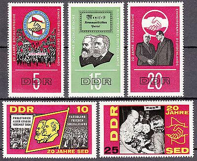 Ddr 1966 Mi. Nr. 1173-1177 Postfrisch ** Mnh