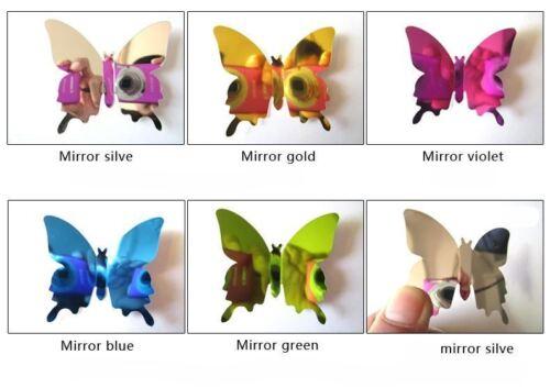 12Pcs Silver Wall Stickers Decal Butterflies 3D Mirror Wall Art Decor Fashion