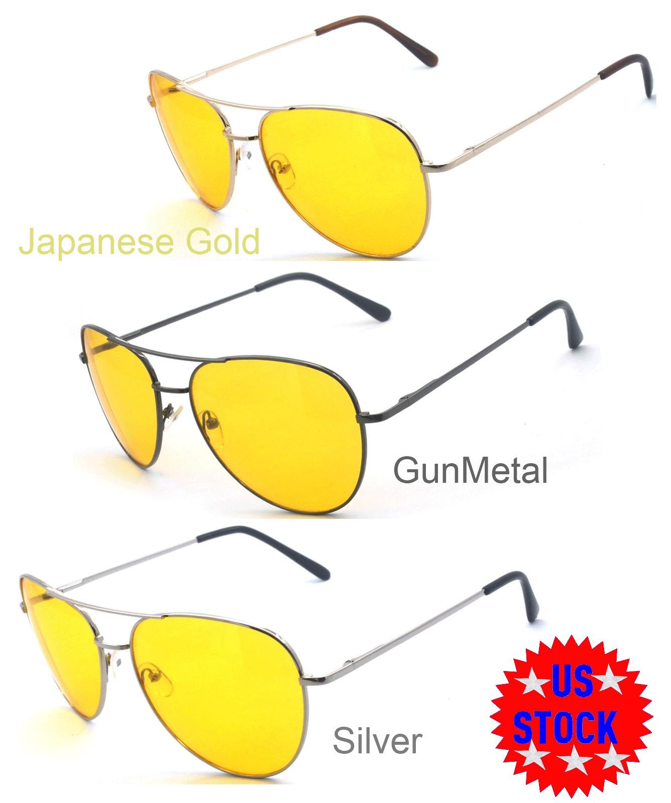 Women Aviator Sunglasses Retro Polarized Men Gun Metal Frame Black Lens IG01