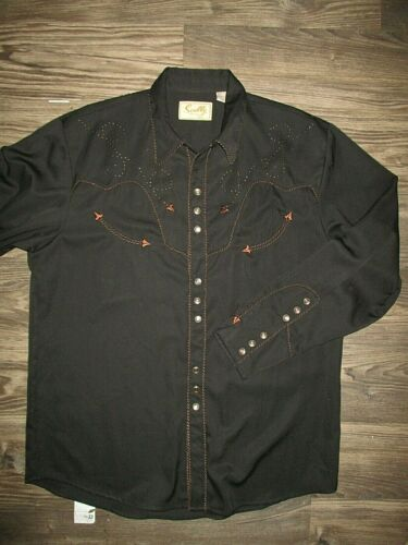SCULLY Western Men's Embroidered shirt LARGE