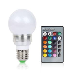 Buy E27 Rgb Magic 3 Watt Colorful Led Light 16 Color Changing Lamp