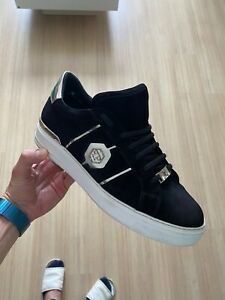 Philipp-Plein-Logo-Low-Top-Sneakers