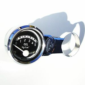 Motometer-Gauge-Holder-VW-Bug-Ghia-Splitscreen-Porsche-356-Beetle-CHROME-AAC052
