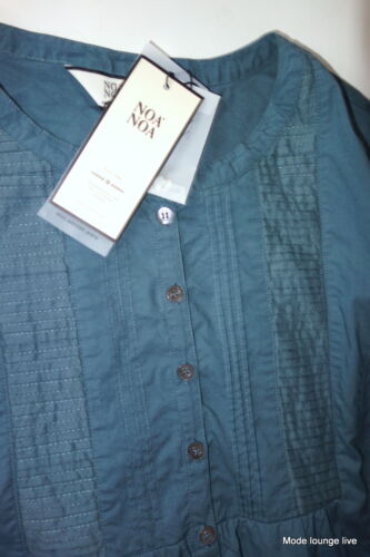 Basic bleu Chemisier et Vert Long en Blouse Noa Chemisier Rug New L 40 coton Shirt qxF7Ewz