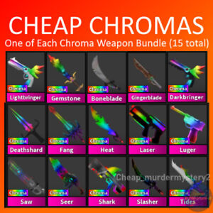 Murder Mystery 2 MM2 Chroma Weapon Bundle Roblox FAST DELIVERY Read Description
