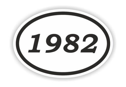 1982 Year Oval Sticker Date Birthday Historical Event Timeline Calendar News Era