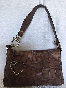 TOSCA-BLU-Brown-Leather-Shoulder-Bag-Handbag