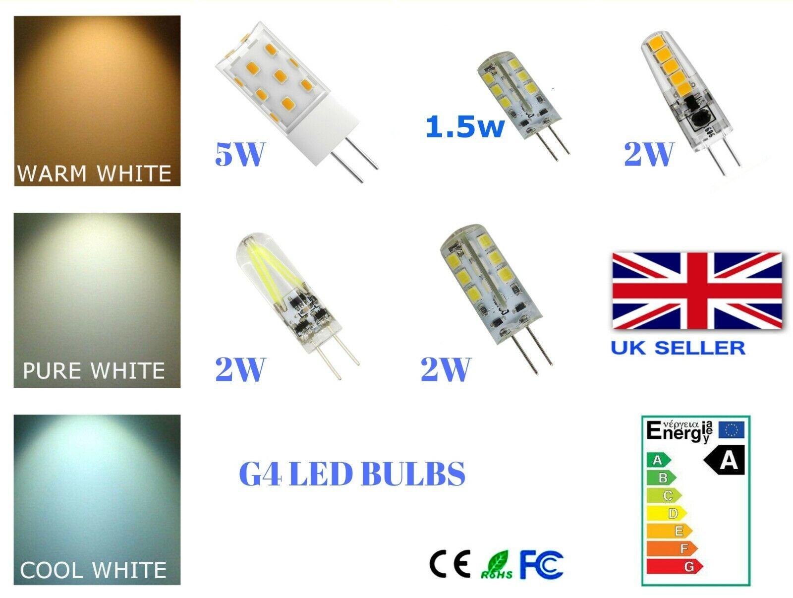 Ampoule capsule LED G9 filament 2W remplace 20W 3000K blanc chaud A++ Lot de 2