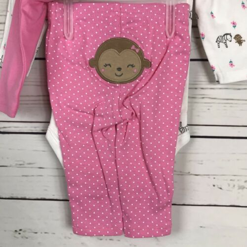 Child of Mine by Carter/'s Baby Infant Toddler Girl Wildly Cute 3pc Set Outfit