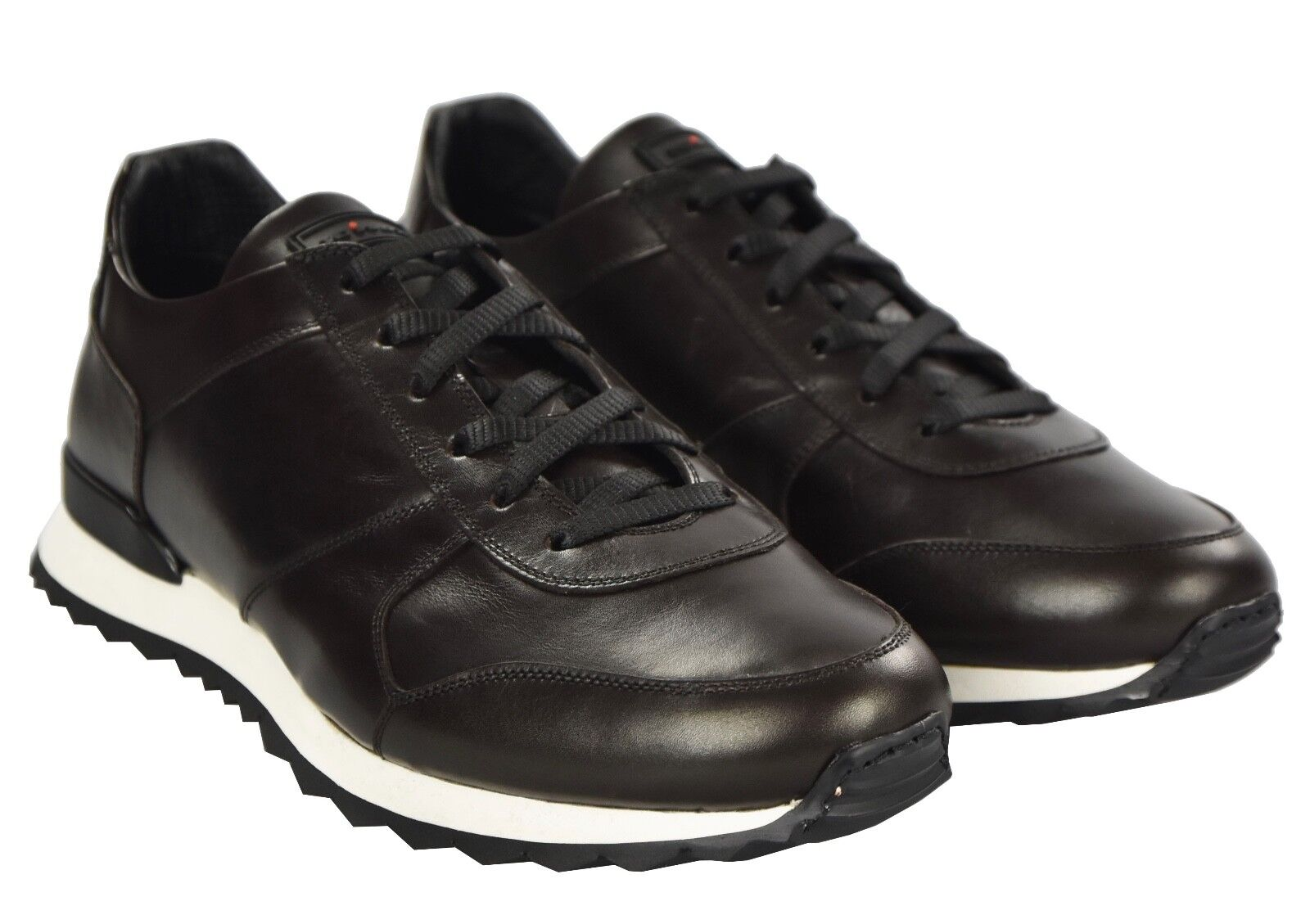 NEW KITON SHOES SNEAKERS 100% LEATHER SIZE 10 US 43 KSCW8