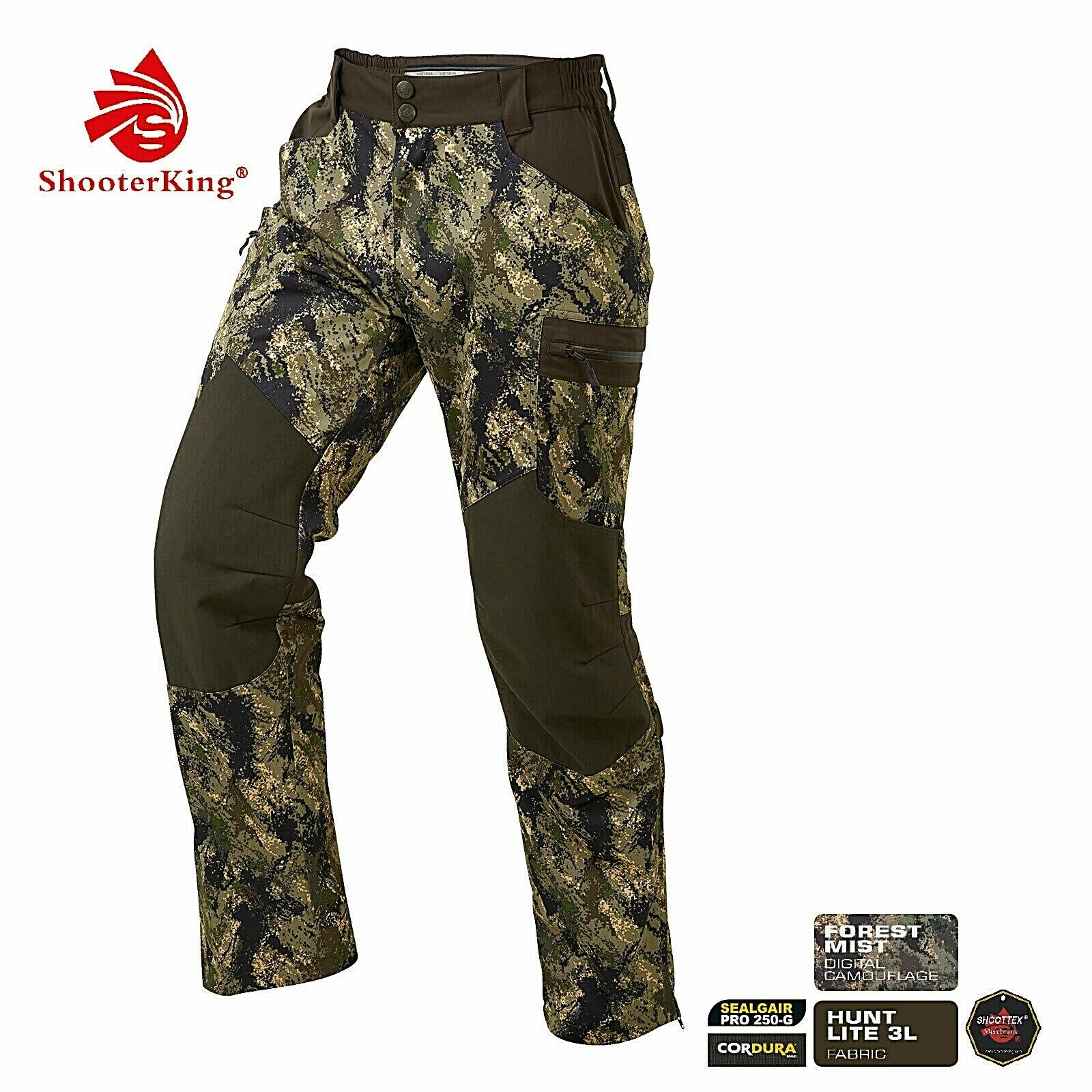NEW    - Shooterking-Hunting Trousers huntflex-DIGITEX Camo Forest Mist-with Membrane