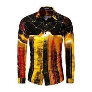 Men-039-s-Luxury-Long-Sleeve-Shirt-Casual-Slim-Fit-Stylish-Dress-Shirts-Tops-Yoooc