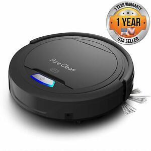 PureClean PUCRC26B Smart Automatic Robot Vacuum Cleaner, Carpet, Hardwood Floor