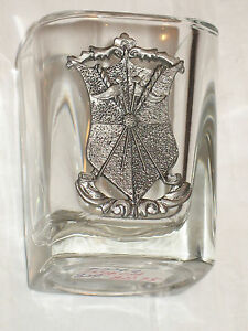Square-Golf-Golfing-Lead-Cystal-Shot-Liqour-Glass-Coat-of-Arms