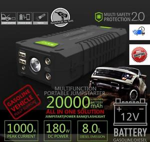 Jump-Starter-20000mAh-1000Amp-Lithium-Smart-Boost-12V-Battery-Power-Bank-Fridge