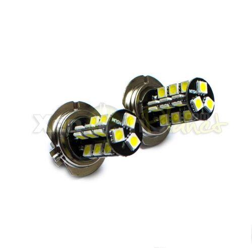 2x H7 27 SMD High Power LED Headlight Foglight Spot DRL Bulbs Xenon White 6000K