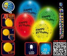"LED-Leuchtballons ""Happy Birthday""  4 Stück/Paket"