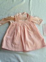 Chaps Baby Girl 3 Months Dress Jumper Pink Floral Two Piece Spring