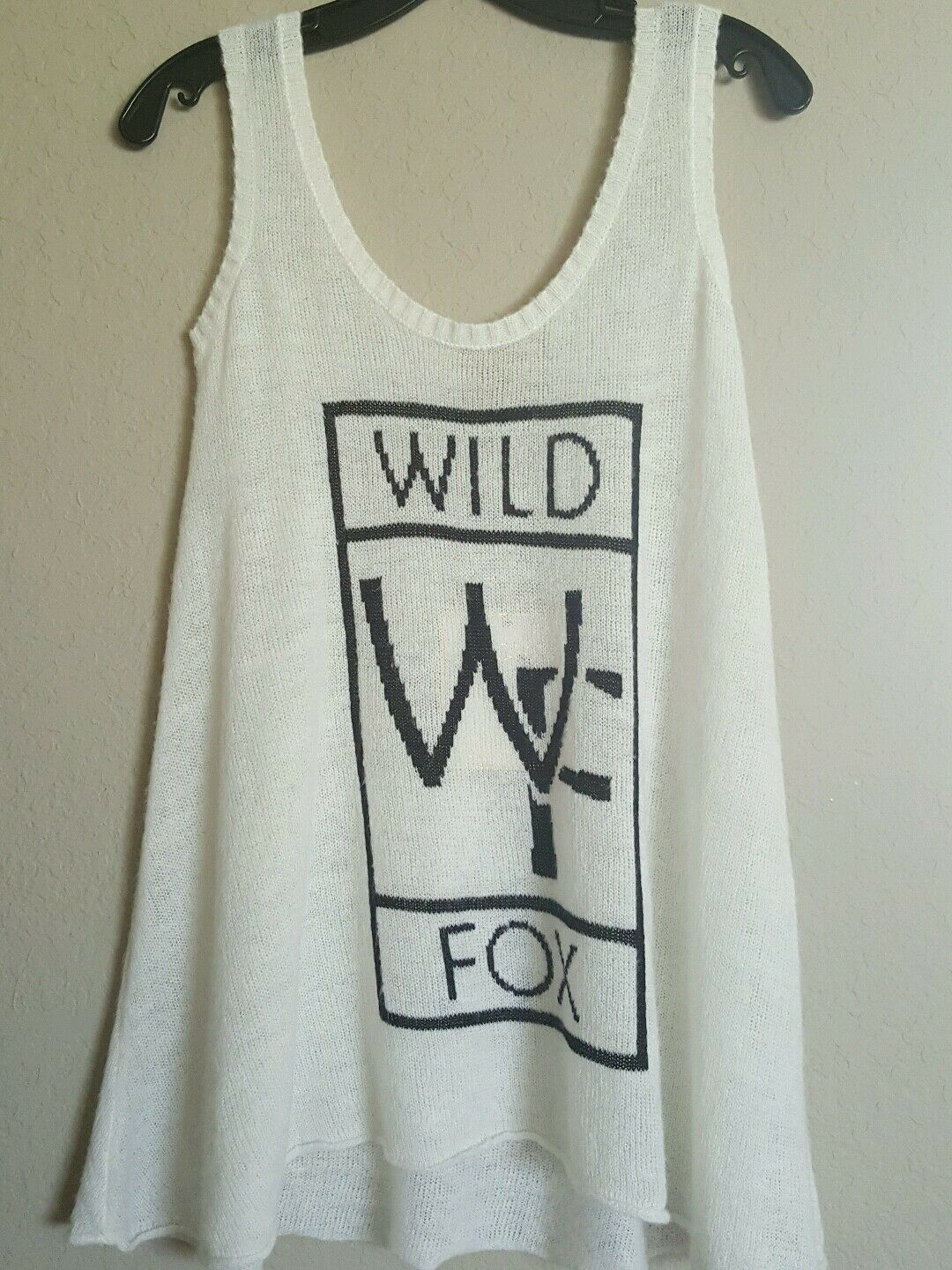 NWT Wildfox Couture White Label wool blend sleeveless sweater CREAM SZ S