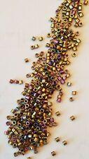 11//0 Toho Treasures #84-Metallic Iris Green//Brown Glass Seed Beads 5 grams