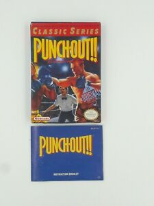 Punch-Out-Box-amp-Instructions-NO-GAME-Authentic-Original-Nintendo-NES